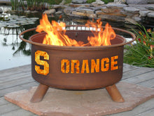 Load image into Gallery viewer, Collegiate Syracuse State Logo Fire Pit, Fireplace - Yardify.com