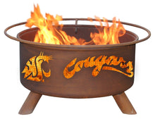 Load image into Gallery viewer, Collegiate Washington State Logo Fire Pit, Fireplace - Yardify.com