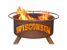 Load image into Gallery viewer, Collegiate Wisconsin Logo Fire Pit, Fireplace - Yardify.com