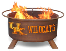 Collegiate University of Kentucky Wildcats Logo Wood / Charcoal Steel Fire Pit, Fireplace - Yardify.com
