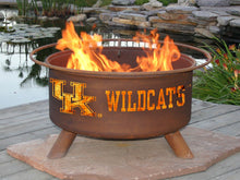 Load image into Gallery viewer, Collegiate University of Kentucky Wildcats Logo Wood / Charcoal Steel Fire Pit, Fireplace - Yardify.com