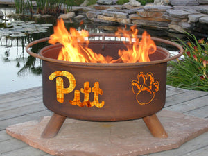 Collegiate Pittsburgh State Logo Fire Pit, Fireplace - Yardify.com
