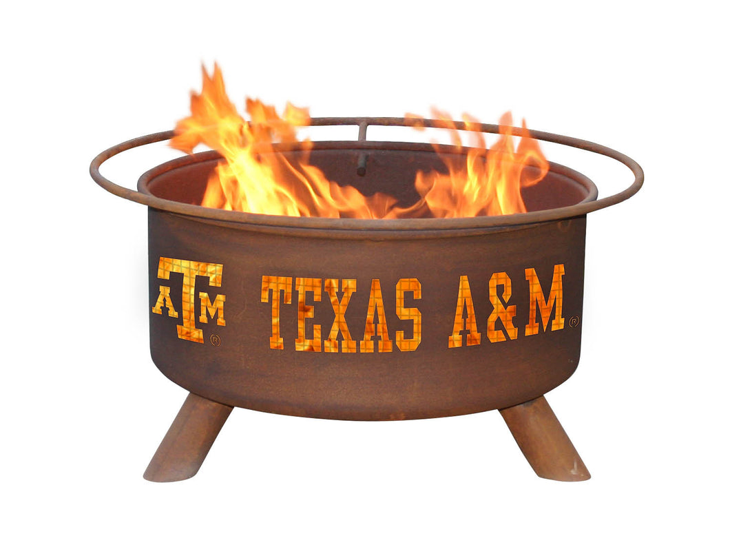 Collegiate Texas A&M Logo Fire Pit, Fireplace - Yardify.com