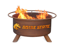 Load image into Gallery viewer, Collegiate Boise State University Logo Wood and Charcoal Steel Fire Pit, Fireplace - Yardify.com