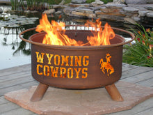 Load image into Gallery viewer, Collegiate Wyoming Logo Fire Pit, Fireplace - Yardify.com