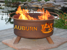 Collegiate Auburn University Logo Steel Wood and Charcoal Fire Pit, Fireplace - Yardify.com