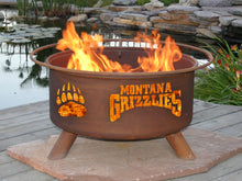 Collegiate University of Montana Logo Wood / Charcoal Steel Fire Pit, Fireplace - Yardify.com