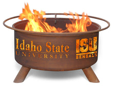 Collegiate Idaho State University Logo Wood / Charcoal Steel Fire Pit, Fireplace - Yardify.com