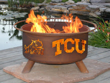 Collegiate TCU Logo Fire Pit, Fireplace - Yardify.com