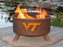 Load image into Gallery viewer, Collegiate Virginia Tech Logo Fire Pit, Fireplace - Yardify.com