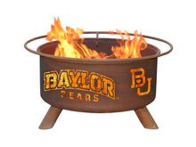 Collegiate Baylor University Logo Wood and Charcoal Steel Fire Pit, Fireplace - Yardify.com