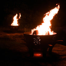 Load image into Gallery viewer, Fire Pit Art Africa's Big Five Wood Fire Pit