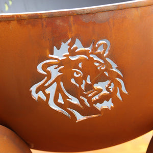 Fire Pit Art Africa's Big Five Wood Fire Pit