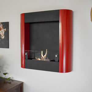 Nu-Flame Focolare Muro Noce Wall Mounted Ethanol Fireplace (NF-W3FOR), Fireplace - Yardify.com