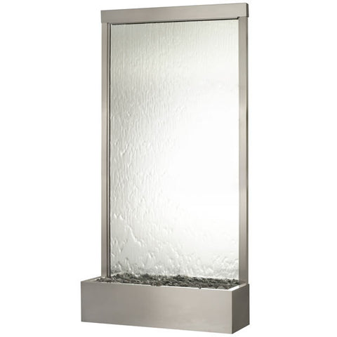 "Bluworld ""Grande"" 8' (94"" Tall) Stainless Steel with Silver Mirror Panel - GR8SM"