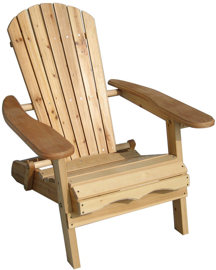 Unfinished Wooden Cunninghamia Cedar Foldable Cedar Adirondack Chair Kit