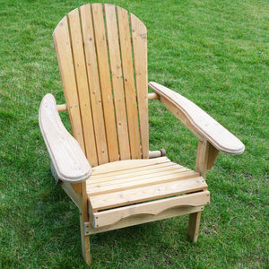 Unfinished Wooden Cunninghamia Cedar Foldable Cedar Adirondack Chair Kit, Chair - Yardify.com