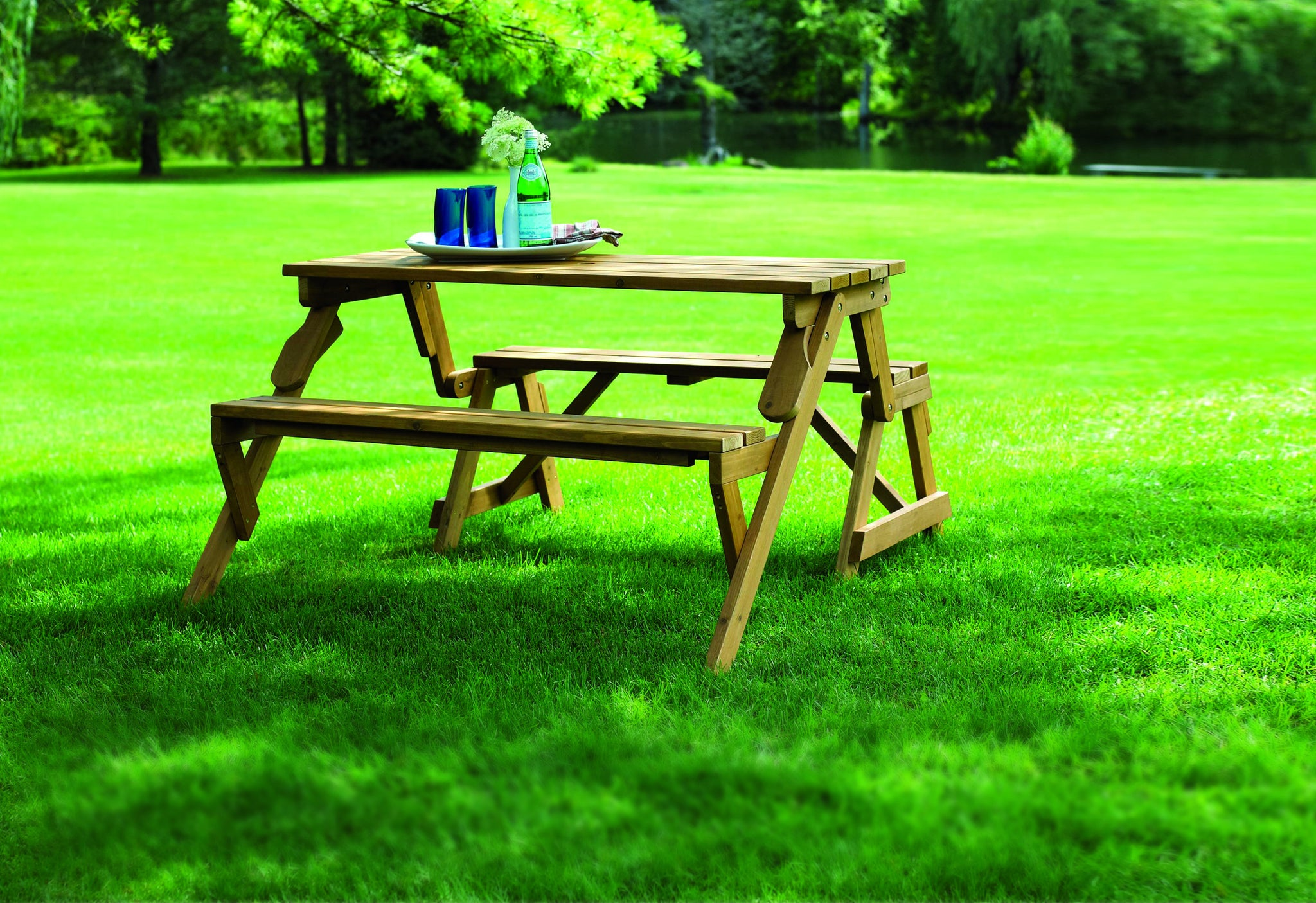 folding picnic table plastic wood cunninghamia cedar oilbased stain convertible folding picnic table bench