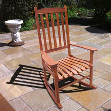 Load image into Gallery viewer, Natural Traditional Acacia Hardwood Rocking Chair, Chair - Yardify.com