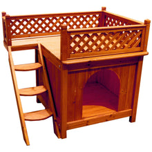 Load image into Gallery viewer, Cedar Wood Room With a View Dog House, dog - Yardify.com