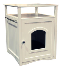 White Cat or Dog Washroom Litter Box Cover / Night Stand Pet House, Cat - Yardify.com