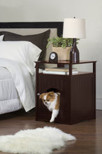 Load image into Gallery viewer, Walnut Dog or Cat Washroom Litter Box Cover / Night Stand Pet House, Cat - Yardify.com