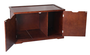 Extra-Large Automatic Walnut Dog or Cat Washroom Bench, dog - Yardify.com