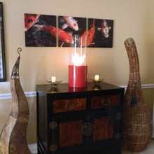 Load image into Gallery viewer, Nu-Flame Doppio Rouge Cylinder Tabletop Fireplace Red (NF-T2DOOR), Fireplace - Yardify.com