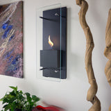 Cannello Wall-Mounted Ethanol Burning Fireplace - Yardify.com