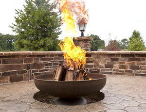 Ohio Flame Liberty Fire Pit with Angular Base, Fireplace - Yardify.com