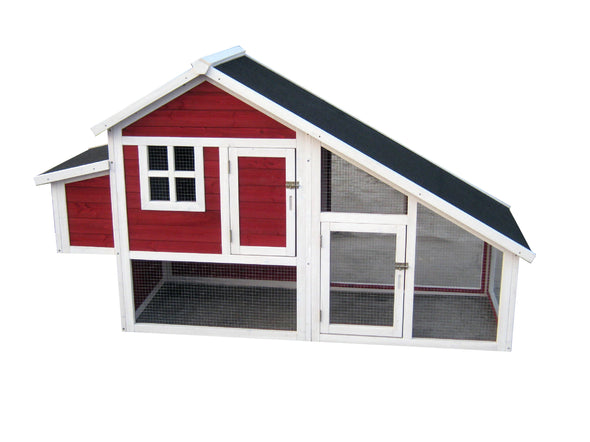 Red Habitat Tower Chicken Coop Barn House, Chicken Coop - Yardify.com