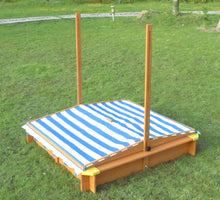 Kid's Outside Playground Sandbox with Retractable Canopy, Sandbox - Yardify.com