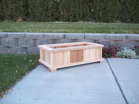 Wood Country Western Cedar Wood Patio Planters - Welcome to Yardify - 2