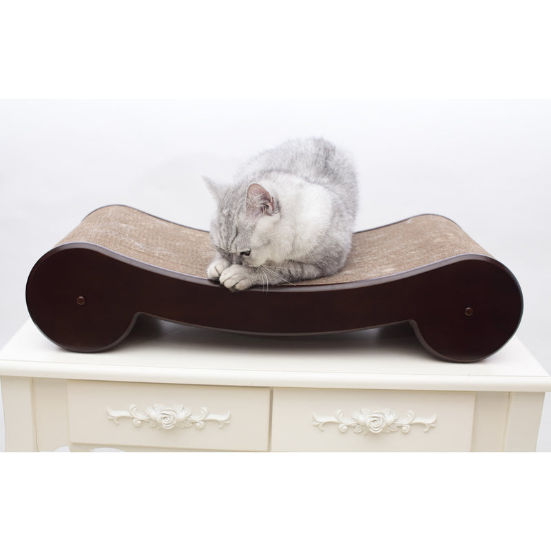 White cat or dog washroom litter box cover night stand pet house - Cat bed scratcher ...