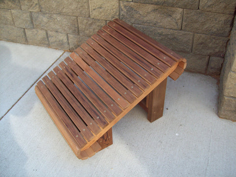 Wood Country Western Red Cedar Adirondack Chairs Ottoman