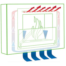 "Load image into Gallery viewer, Eco-Feu Olympia 33.5"" UL Listed Wall Mounted Ethanol Fireplace  (WS-00073-BS, WU-00124-SW, WU-00068-SS), Fireplace - Yardify.com"