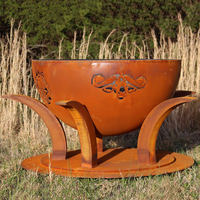 Fire Pit Art Africa's Big Five - Handcrafted Carbon Steel Fire Pit (Big5)
