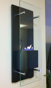 Nu-Flame Cannello Wall-Mounted Ethanol Burning Fireplace (NF-W3CAO), Fireplace - Yardify.com