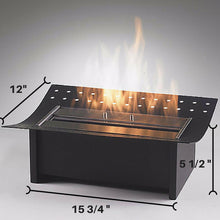 Eco-Feu Insert Ethanol Traditional Fireplace - Matte Black (FS-00033-MB), Fireplace - Yardify.com
