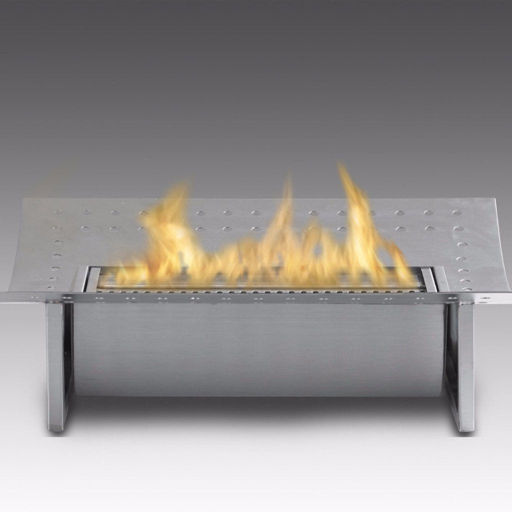 Eco Feu Insert Ethanol Traditional Fireplace Stainless Steel