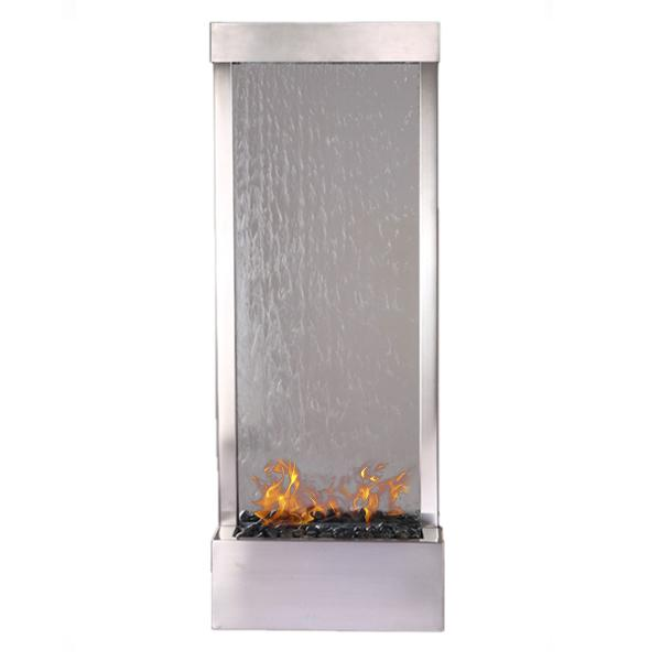 Nu-Flame Grandenfall Ethanol Fire-Fountain - 6 Ft or 8 Ft (GF6SG-FIRE, GF8SG-FIRE), Fireplace - Yardify.com