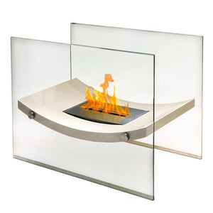 Anywhere Fireplace Floor Standing Fireplace - Broadway Model - Biege, Fireplace - Yardify.com