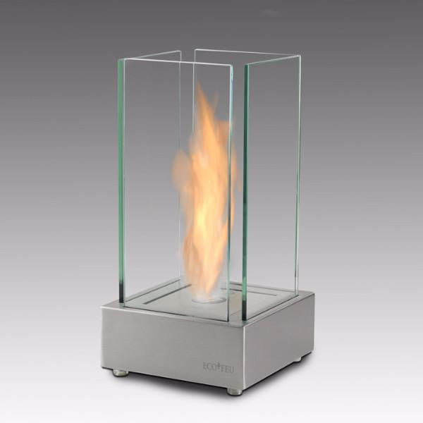 Eco-Feu Cartier Tabletop Ethanol Fireplace - Stainless Steel (TT-00104-SS), Fireplace - Yardify.com