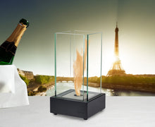 Load image into Gallery viewer, Eco-Feu Cartier Tabletop Ethanol Fireplace - Matte Black (TT-00106-MB), Fireplace - Yardify.com