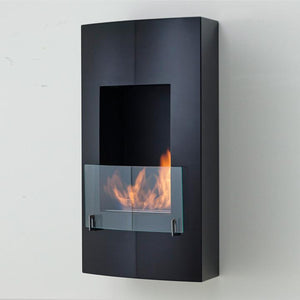 "Eco-Feu Hollywood- 19"" UL Listed Wall Mounted/ Built - In Ethanol Fireplace  (WU-00146-MB, WU-00070-BS), Fireplace - Yardify.com"