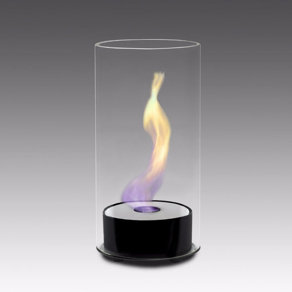 Eco-Feu Juliette Tabletop Ethanol Fireplace - Gloss Black (TT-00101-GB), Fireplace - Yardify.com