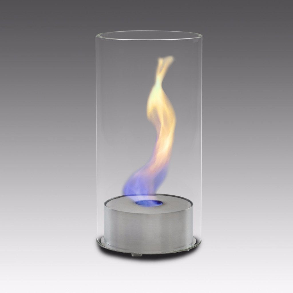 Eco-Feu Juliette Tabletop Ethanol Fireplace - Stainless Steel (TT-00099-SS), Fireplace - Yardify.com