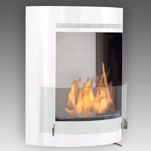 "Eco-Feu Malibu - 20"" UL Listed Wall Mounted Ethanol Fireplace - Gloss White (WU-00122-SW), Fireplace - Yardify.com"