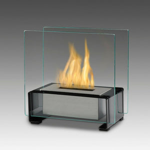 Eco-Feu Paris Tabletop Ethanol Fireplace - Black (TT-00134-GB), Fireplace - Yardify.com