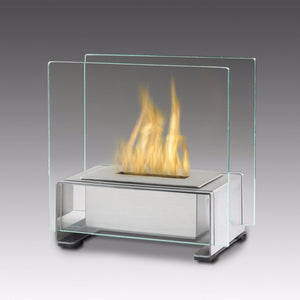Eco-Feu Paris Tabletop Ethanol Fireplace - Stainless Steel (TT-00136-SS), Fireplace - Yardify.com